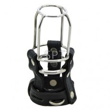 Black Leather Stallion Guard Cage - 1 RING