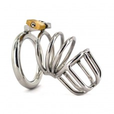 Spiral Stainless Steel Male Chastity Device